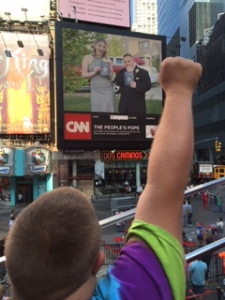 Joe in Times Square